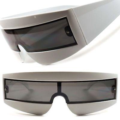 Black Novelty Sun Glasses Futuristic Bar Space Robot Party Costume JJ