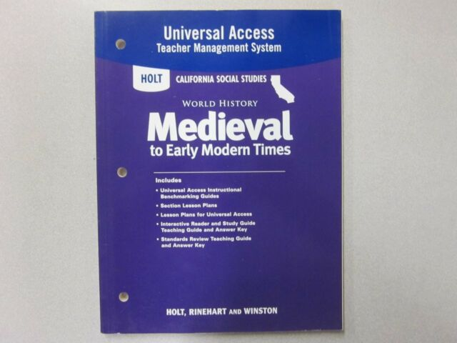 Holt World History Medieval Early Modern Times Universal Access 0030421535