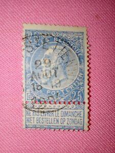STAMPS-TIMBRE-POSTZEGELS-BELGIQUE-BELGIE-1893-NR-60-ref-1786
