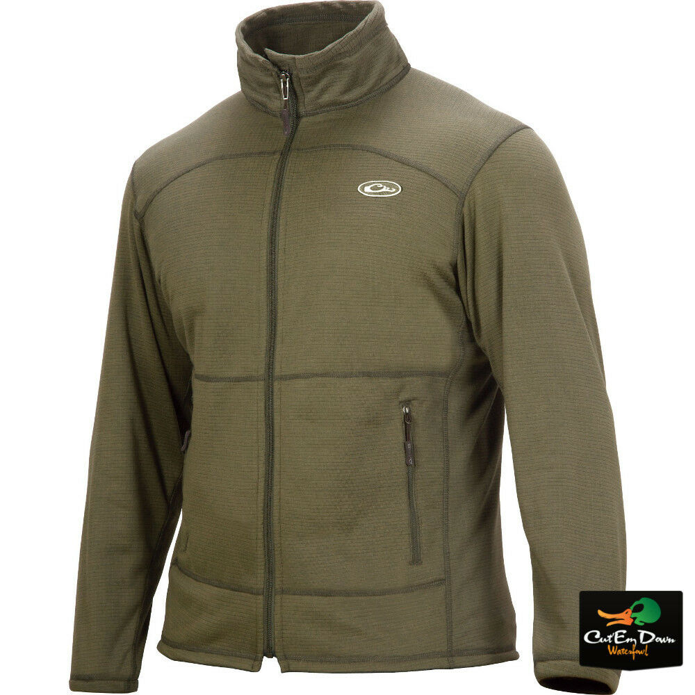 Drake Waterfowl breathlite Full Zip Chaqueta Suéter verde Oliva Grande