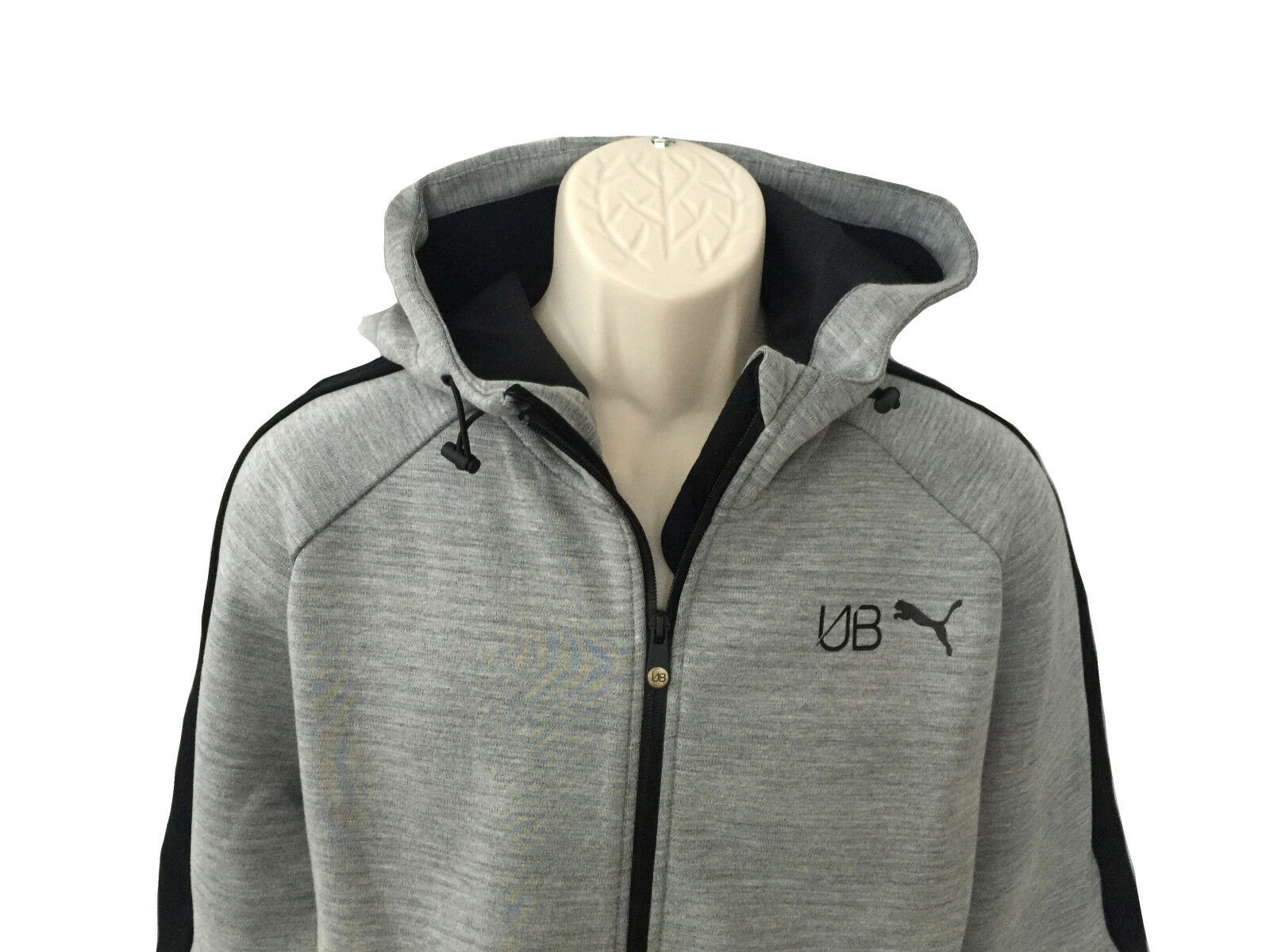 NEU Herrenmode Sport Kapuzen Sweater grau meliert Gr.XL von PUMA