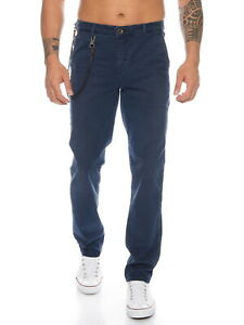 Jack & Jones Herren Chino-Hose Business Casual Stoffhose Stretch blau Sale