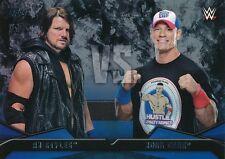 #1 AJ STYLES vs JOHN CENA2016 Topps WWE Then Now Forever WWE RIVALRIES
