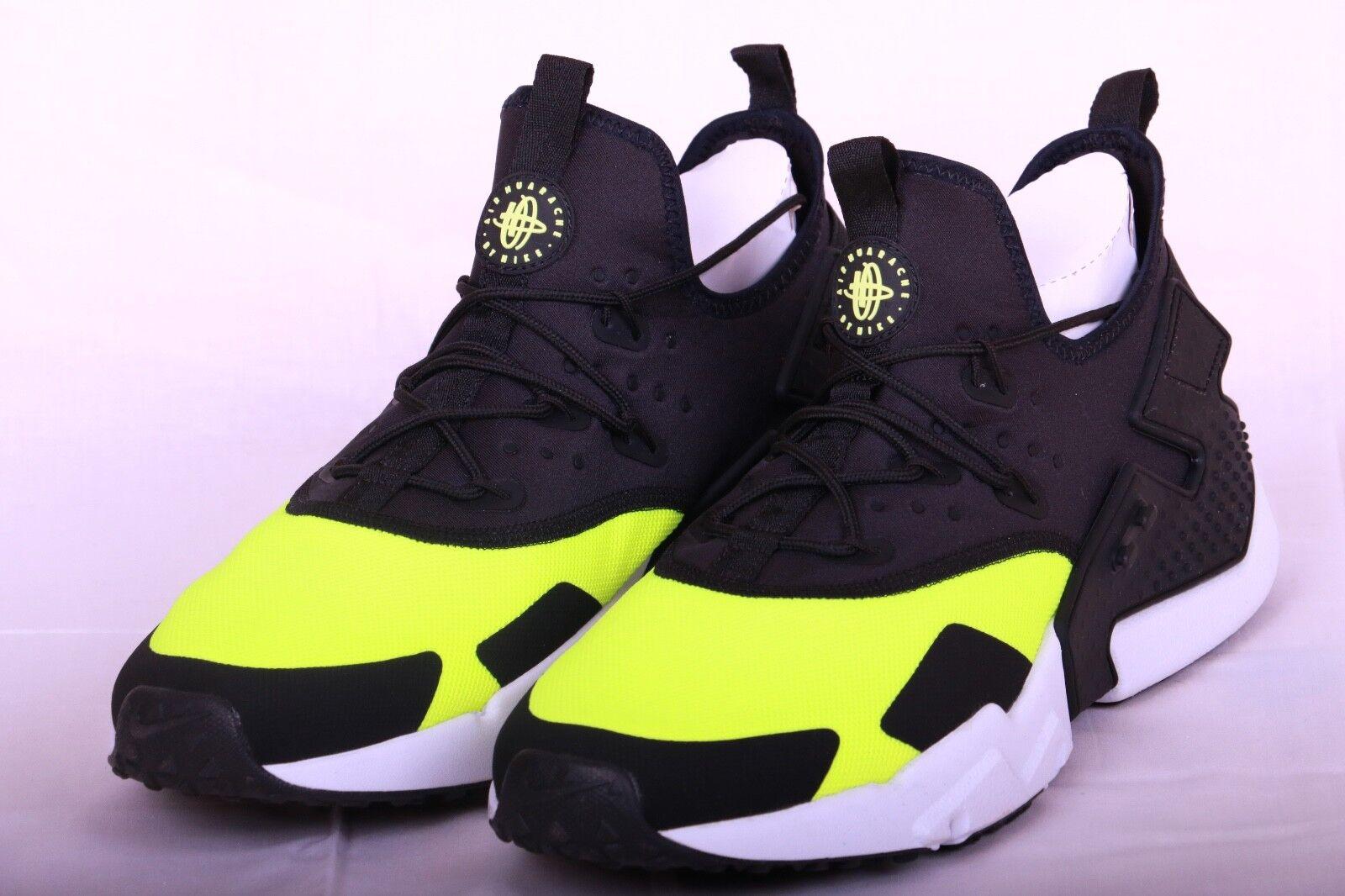 Nike Air Huarache Drift Run Shoes Volt Black White AH7334 700 Men's Size 13