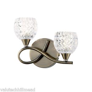 Endon-Lighting-Bow-2-Light-Semi-Flush-Wall-Light-ANTIQUE-BRASS-LEFT-ORIENTATION