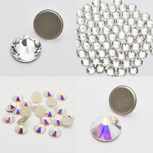 1533a287b427 Image is loading Swarovski-No-Hotfix-Clear-001-AB-001AB-Rhinestones-