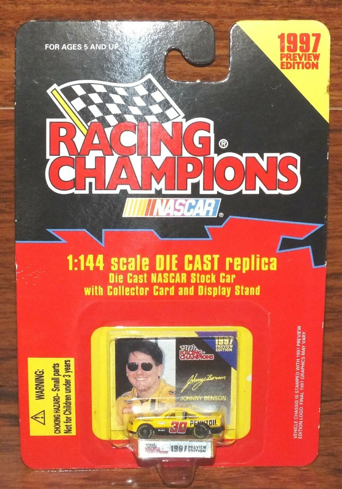 Nascar Racing Champions 1997 Preview Edition 1 144 Johnny Benson Diecast Car NEW