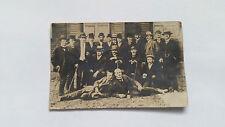 Foto 34K1671 Tolles Gruppenbild mit vielen Herren mit Stock und Hut ca. 9x14cm