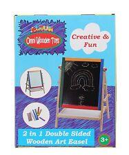 6 Sets x Omni Wooden Toys Kids 2 in 1 Art Easel Black/ White magnetic board fun