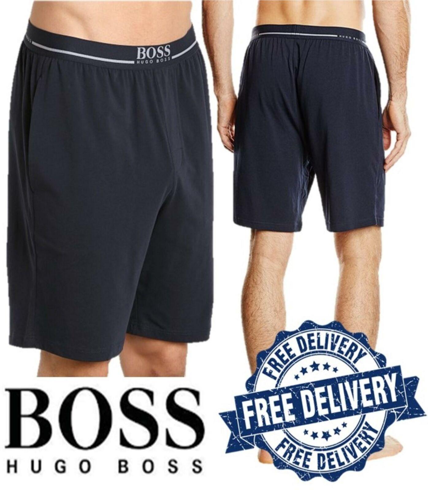 Mens Hugo Boss EW Summer Shorts Casual Gym Running Shorts Navy