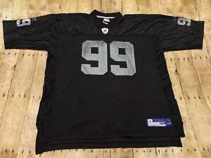 1102a523c Oakland Raiders Jersey Reebok Warren Sapp XXL 2XL NFL Football Black ...