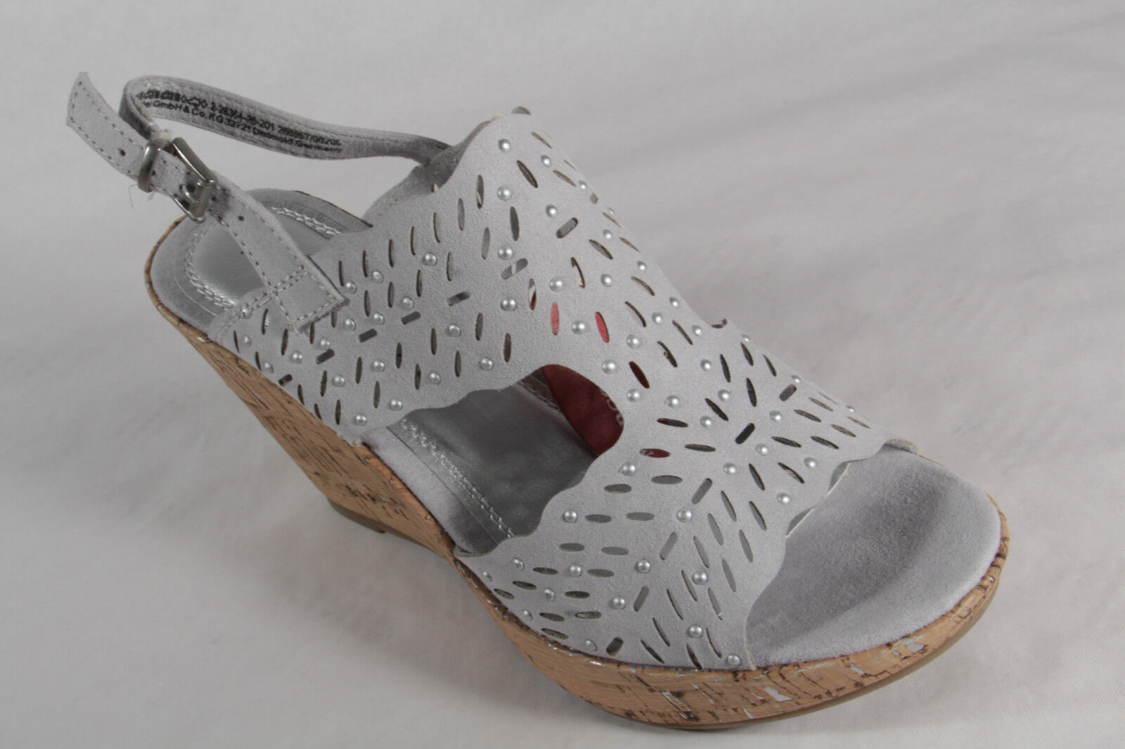 Marco Marco Marco Tozzi Ladies Sandals Sneakers Real Leather Grey NEW 7b1675
