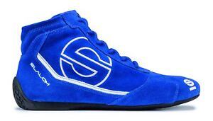 Shoes-Sparco-Slalom-RB-3-FIA-BLUE-Suede-Boots-Race-Racing-Rally-Driving