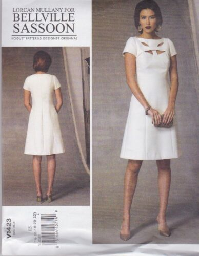 Vogue Sewing Pattern Misses' Bellville Sassoon Lined Dress Sizes 6 22 V1423