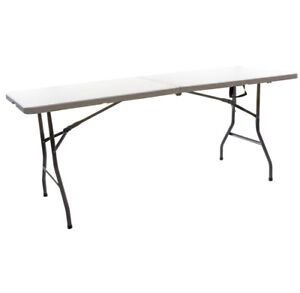 Party Klapptisch.Details Zu Buffet Tisch Einklappbar Weiß Ca 74x180cm Party Tisch Klapptisch Gartentisch
