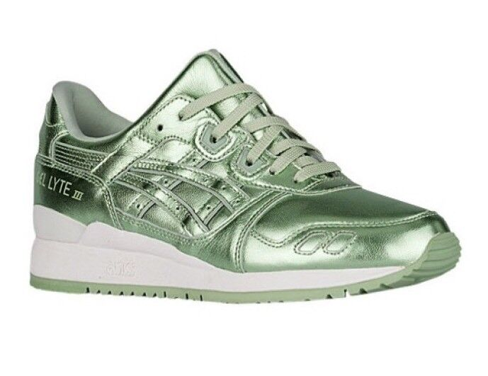 ASICS GEL LYTE III GREEN GREEN WOMEN'S RUNNING SHOES 100% AUTHENTIC