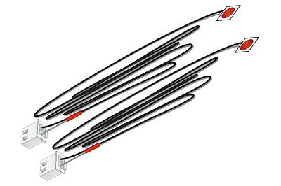 WOODLAND SCENICS wjp5739 Just plug Lighting Sistema autoadesiva LED ROSSO 2x