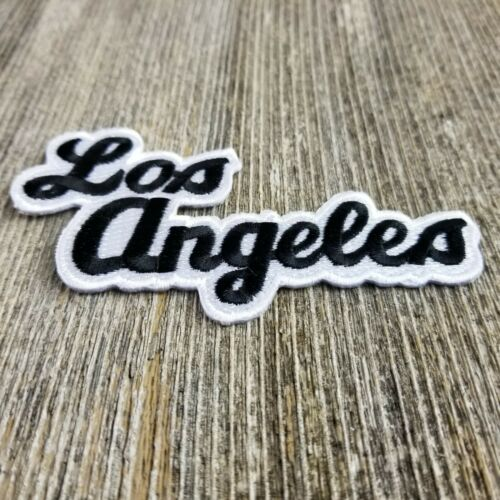 Los Angeles Patch Script Black and White California Souvenir Iron On Travel