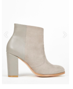 Just Fab Xael Ankle Boots in Grey JS53 08