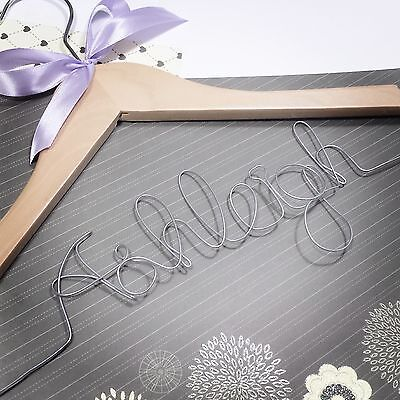 PERSONALISED Wooden Wedding Dress Bridal Gown Bride Bridesmaid Hanger Party Gift