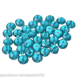 Wholesale-Lots-Peacock-Blue-Crystal-Glass-Faceted-Rondelle-Beads-8x6-3mm