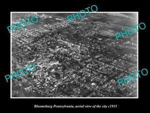 OLD-LARGE-HISTORIC-PHOTO-OF-BLOOMSBURG-PENNSYLVANIA-AERIAL-VIEW-OF-CITY-c1935