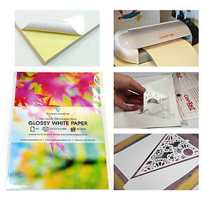 10x-A4-Sticky-Sticker-GLOSSY-Self-Adhesive-Craft-Paper-Label-Printing-Silhouette