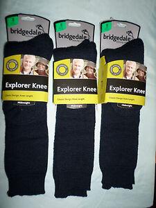 3 PAIR LADIES BRIDGEDALE EXPLORER HIKING WALKING WINTER SOCKS SMALL 3-5