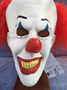 image is loading halloween costume pennywise clown with hair latex deluxe