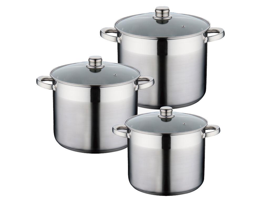 Casseroles Avec Couvercle En Verre 6-tlg Gastro étage Pot Pots Casserole Peterhof ph-15200