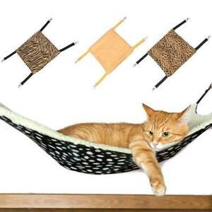 Leopard Dot Cat Hammock Fleece Animal Hanging Dog Bed Carpet Pet New