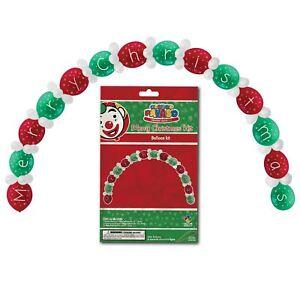 66 BUON NATALE GRANDE Palloncino Arch Grotta Festa Di Natale Decorazione Porta d'ingresso  </span>
