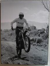 Steve McQueen Motorcycle Lake Elinsoire 1970 Laminated Art (Watch Video)