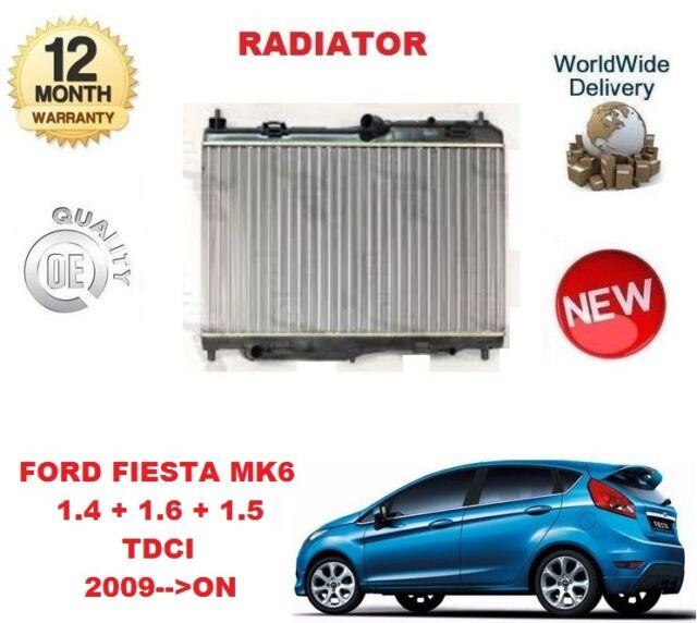 BRAND NEW RADIATOR FORD FIESTA MK6 1.4 TDCI 1.6 TDCI 1.5 TDCI 2 years WARRANTY