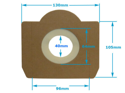 10 Staubsaugerbeutel geeignet für Einhell Inox 1250 mehrlagig 633