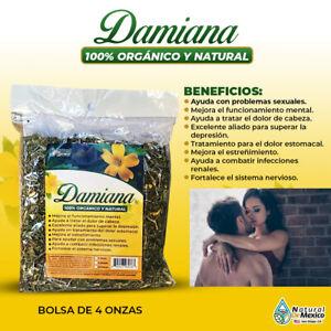 Damiana Leaf Turnera Diffusa 4 oz-113g. Aphrodisiac Excitante Sexual, Tonic Herb