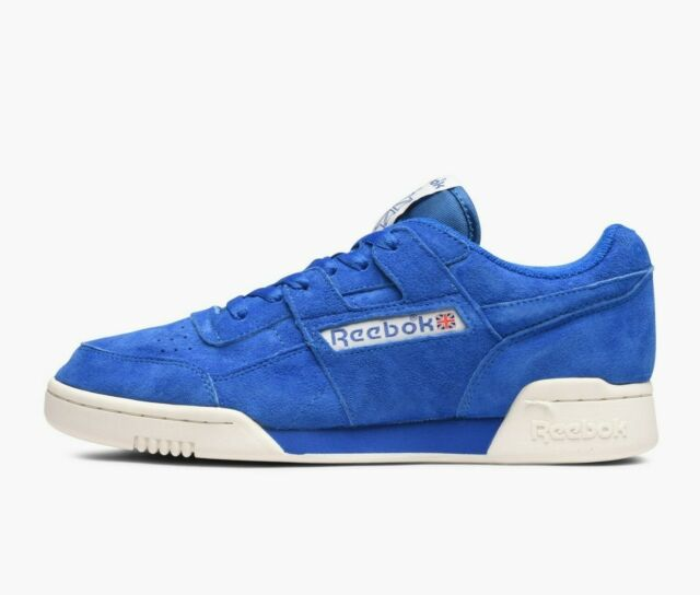 68bf54ed937 Reebok Men s Classic Workout Plus Vintage Trainers Running Shoes BD3382 Blue
