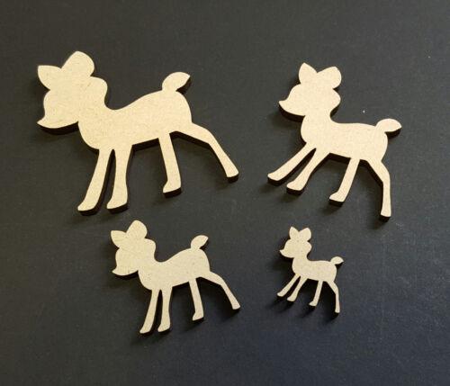 Baby Deer Mdf Craft forma especial occaision Niños Fiesta