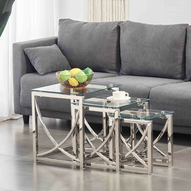 Marina Coffee Table With Fine Mactan Stone Base Rectangular Tempered Glass Top For Sale Ebay
