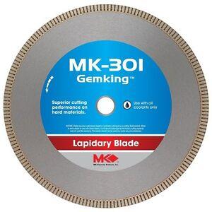 """6"""" 8"""" 10"""" MK 301 Barranca GemKing Blade Rock Cutting Saw Glass Lapidary Slab"""