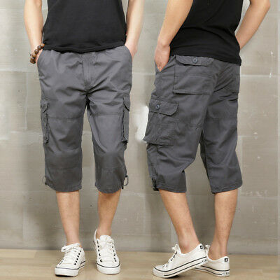 great fit great deals save off 2018 Mens Cargo Shorts Capri Short Pants Men Military Work Pants Combat  Trousers | eBay