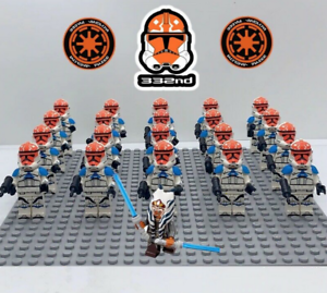 21Pcs-Ahsoka-Tano-332nd-Star-Wars-Clone-Trooper-Minifigures-For-Lego-Moc-Toys