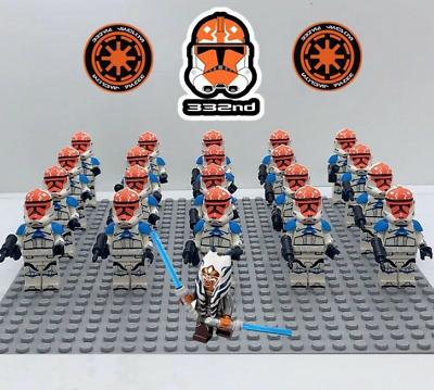 21 Pcs Minifigure Star Wars Clone Trooper Strom trooper Army Lego MOC