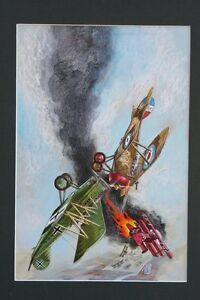 War #3 Schöne Bemalt Abdeckung - WWI Dogfight 1975 Kunst Von Tom Sutton