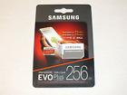 Evo Plus Micro SDXC with SD Adaptor 256 gb Memory Card NEW