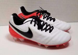 online retailer b33c2 13937 Details about Nike TIEMPO LEGEND VI FG Womens Sz 6 ACC Soccer Cleats  White/Red/Black/Leather