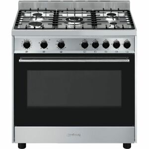 Smeg B90GVXI9 Cucina 90cm 5 Burners Gas Range Cooker Black ...