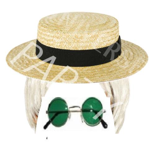 2 Elton John Rocket Man Fun 70/'s 80/'s Fancy Dress Costume Stag Hen Wig Set