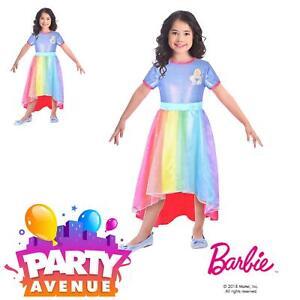 Detalles De Vestido De Fiesta Barbie De Disfraces Arco Iris Cove Para Niños Vestir Tema Ver Título Original