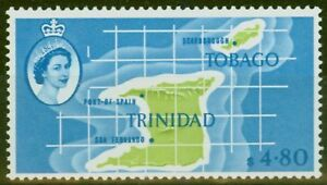 Trinidad-amp-Tobago-1960-4-80-Apple-Green-amp-Pale-Bleu-SG297-Fin-Legerement-MTD